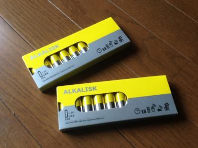 ALKALISK アルカリ電池
